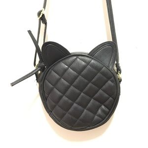 ASOS kitty cat quilted crossbody bag